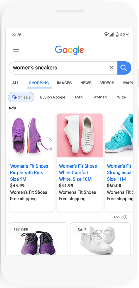 Google highlights the best shopping deals in search results