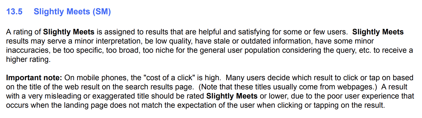 Quality Assessment Guidelines UX Section 13.5